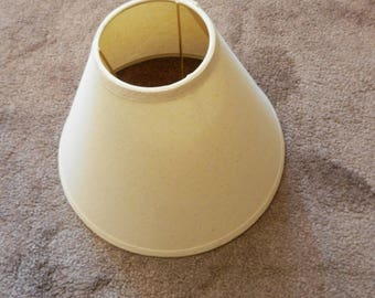 Small Ivory Fabric Bell Shade with an UNO attachment
