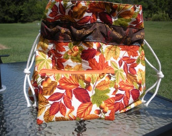 Falling Leaves Project Bag