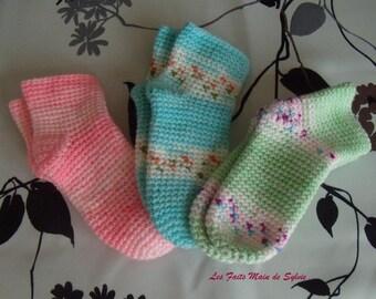 12-18 months crochet baby socks