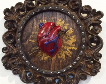 Up-cycled Assemblage Primitive Shrine, Be Mine