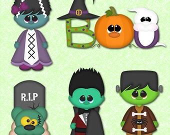 Halloween clipart commercial use, pumpkin clipart vector graphics, ghost digital clip art