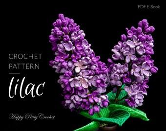 Crochet Lilac Pattern - Crochet Flower Pattern - Crochet Pattern for Decor and Flower Arrangements - Crochet Pattern for Wedding Bouquet