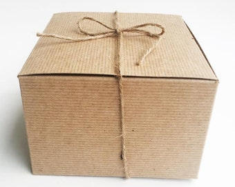 Gift Box // Recycled Gift Box Crinkle Paper Eco Friendly