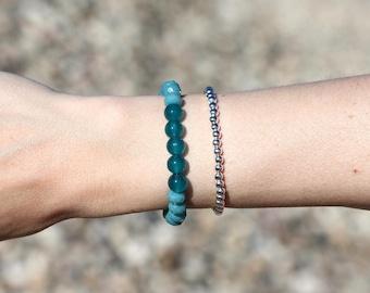 Bracelet * Glass beads * Beads turquoise petrol * bracelet glass bead * Beads