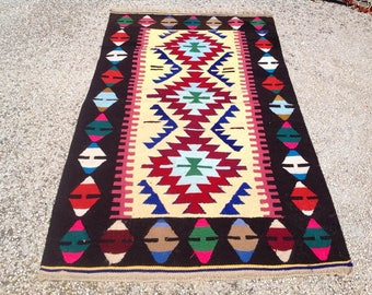 "Small kilim rug, 57"" x 33"" Entrance rug, Vintage Turkish rug, kilim rug, kelim, vintage rug, bohemian rug, small rug, kids room, nursery,722"