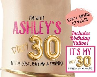 Dirty Thirty tattoos, dirty 30 gift, 30th birthday gift, 30th birthday shirt, dirty 30 shirt, dirty thirty shirt, dirty 30 gift, 30AF, 30 AF