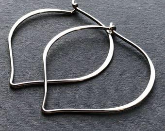 Sterling Silver Lotus Petal Hoop Earring Findings