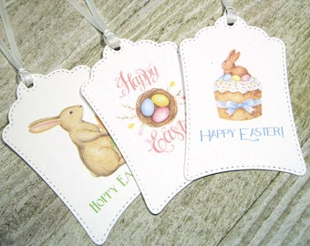 Adorable Easter Tags - Set of 12 - Favors - Trending - Easter Bunny - Easter Basket - Easter Eggs - Easter Party