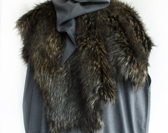 Reversible Fur Mantle