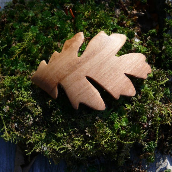 Oak leaf hair clip, Oak Leaf hair barrette, 50mm French Barrette Clasp, Hair clip for thin hair, Child's hair clip, Gift for her under 30