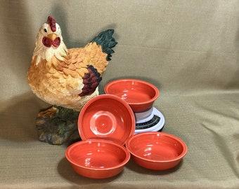 Fiestaware Persimmon Soup Bowls (4)