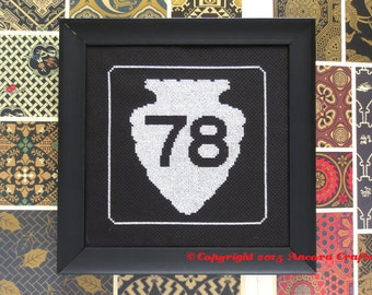 Montana Cross Stitch Kit - Arrowhead Road Sign