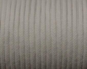 Cord cotton mix Ø 4mm - color white / Piece of 4.26 m