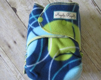 Polka Dot -  Extended Wear Hybrid Fitted Cloth Diaper with Hidden Bamboo Fleece