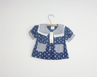 Vintage Navy Nautical Baby's Shirt
