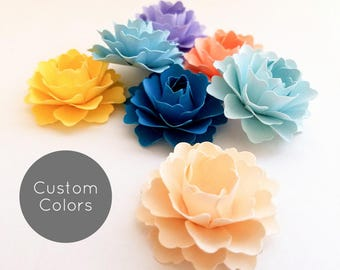 "1"" Loose Paper Flowers 