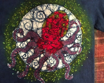 Small blue Batik octopus shirt