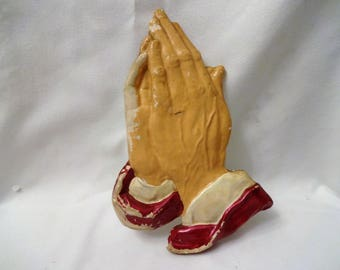 Praying Hands Plaque