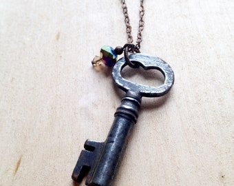 Antique Skeleton Key Necklace
