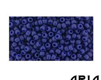 SEMI GLAZED Navy BLUE (2607F): 11/o Toho Semi Glazed Japanese Seed Beads (10 grams)