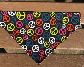 Peace Sign Over-the-Collar Bandana