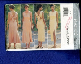 Butterick 3997 Donna Ricco Summer Time Dress Pattern Size 14..16