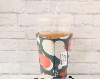 Iced Coffee Cozy, Coffee Cozy, Cup Cozy, Coffee Cozies, Cup Sleeve, Cozies, White Whale Cozy, Coffee Gifts