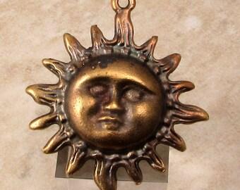 Sun Pendant, Mykonos Antique Brass, M459