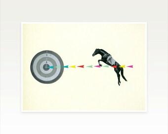 Zodiac Art, Sagittarius Poster, Horse Art Print - On Target : Sagittarius