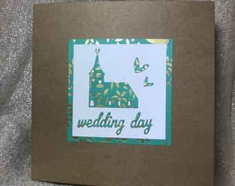 Wedding Day Card - Handmade - Unique