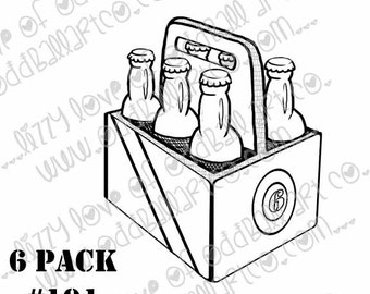 Digi Stamp Instant Download Oddball Stamps Elements - 6 Pack No. 191 by Lizzy Love