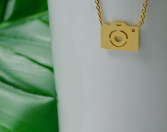 Dainty tiny plated Camera in Gold and Silver