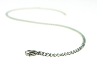 "16"" Chain Choker All No Tarnish Stainless Steel Including Clasp"