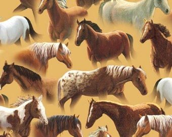 Quilting Treasures - Sundance by Lane Kendrick - Packed Horses