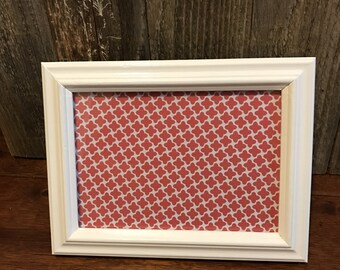 Painted 5x7 wood frame