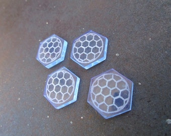 Star Wars X-Wing Game Compatible Laser Cut Acrylic Shield Tokens 8 pack