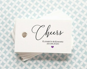 Favour Tags - Personalised wedding Favour tags -  Thank you favour tags - Foiled Favour Tags - FT02