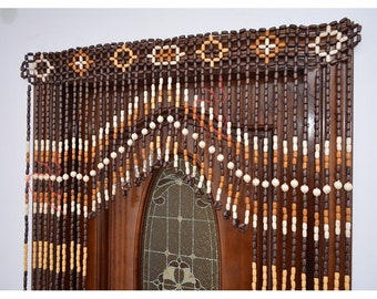 Beaded Door Curtain Decor For Living Room Wood Blinds Beads Curtains