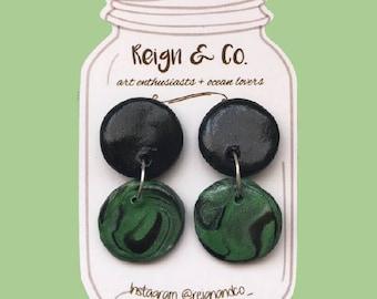 Deep Vibez Clay earrings