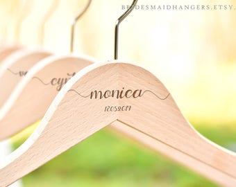 Hanger for Wedding Dress, Bridesmaid Hanger,Wedding Dress Hanger,Personalized Bridal Party Hanger,Bridesmaid Proposal,Bridal Shower Gift H01