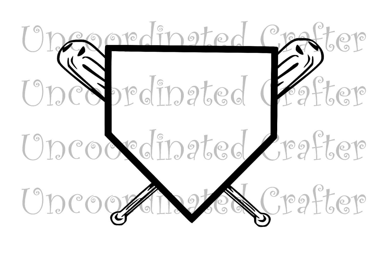 home plate and cross bats svg    baseball svg    softball svg crossed softball bats clipart crossed softball bats clipart