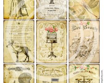 Vintage Victorian Flower Rose Handmade Postcard Ledge Border