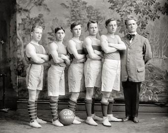 Georgetown Basketball Photo, early 1900s, Georgetown University, Washington DC, Georgetown Fan, Black White, Gift, Basketball Player