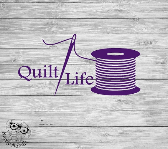 Quilt life decal quilting decal quilter car decal quilt