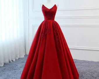 Homemade Red Formal Dress