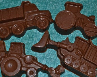 Chocolate Heavy Equipment - Chocolate  dump truck - Chocolate front end loader - Boys party construction party - Chocolate tractor favor