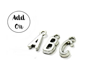 ADD-ON, Silver Initial Charm, Personalized Gift Add-On, Personalized Necklace Add-On, Monogram Gift Add-On