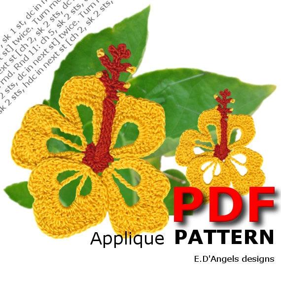 Crochet Crochet pattern Crochet Hibiscus flower Crochet