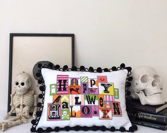 Happy Halloween - printed version - Satsuma Street modern cross stitch pattern