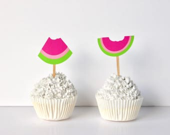 Watermelon Cupcake toppers 12ct.